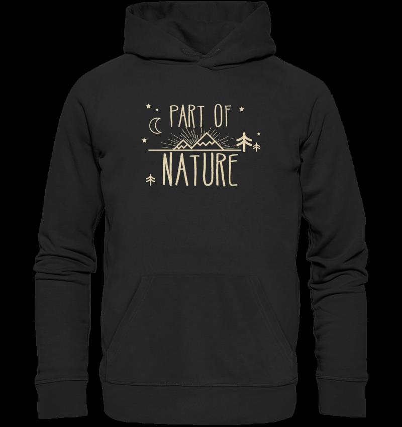 Part Of Nature. Bio Baumwoll Hoodie in verschiedenen Farben.